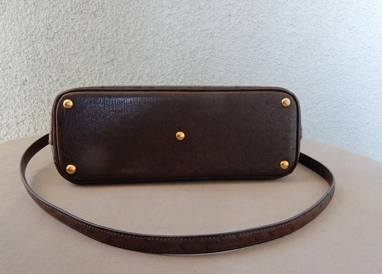 Hermes Genuine Ostrich Baby Bolide Handbag  Unused! For Sale 1