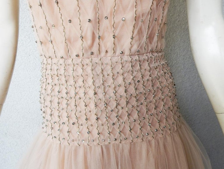 Women's Valentino $19K Fantasy Silk Net & Tulle Beaded Pink Gown  New! For Sale