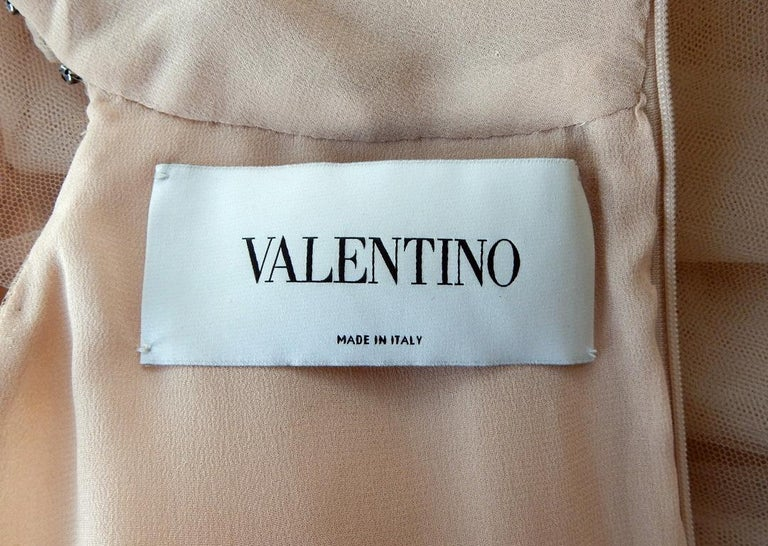 Valentino $19K Fantasy Silk Net & Tulle Beaded Pink Gown  New! For Sale 2