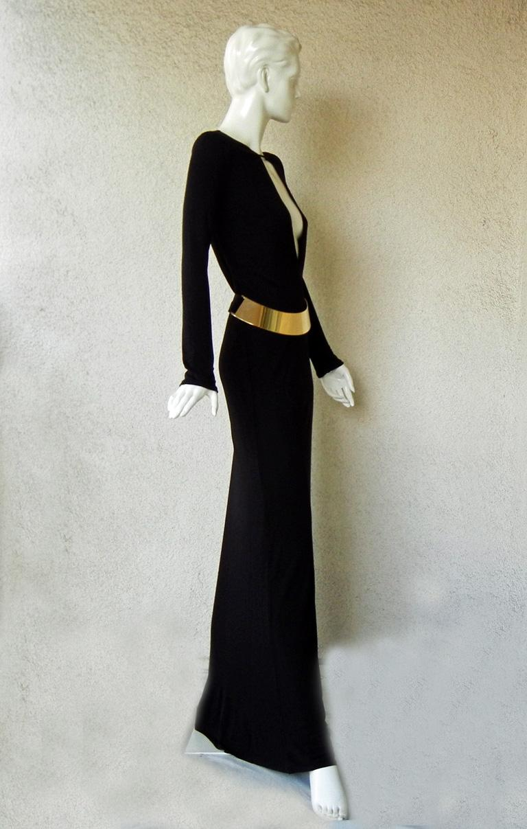 Black Gucci by Tom Ford Iconic Halston Inspired 1996 Gown in Tom Ford Book Dress   For Sale