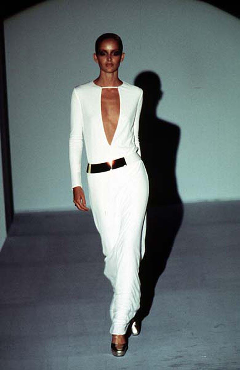 Gucci by Tom Ford Iconic Halston Inspired 1996 Gown in Tom Ford Book Dress   For Sale 2