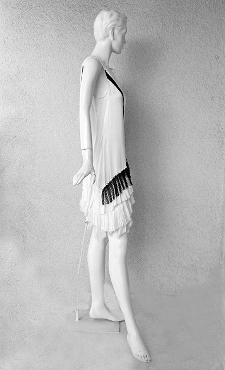 Women's  Balenciaga/Ghesquiere 2001 Rare Vogue Magazine Pick Chemise 1920's Style Dress For Sale