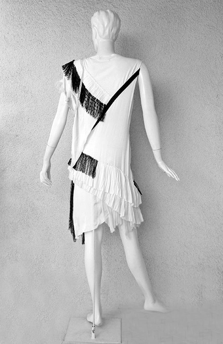 Balenciaga/Ghesquiere 2001 Rare Vogue Magazine Pick Chemise 1920's Style Dress For Sale 1