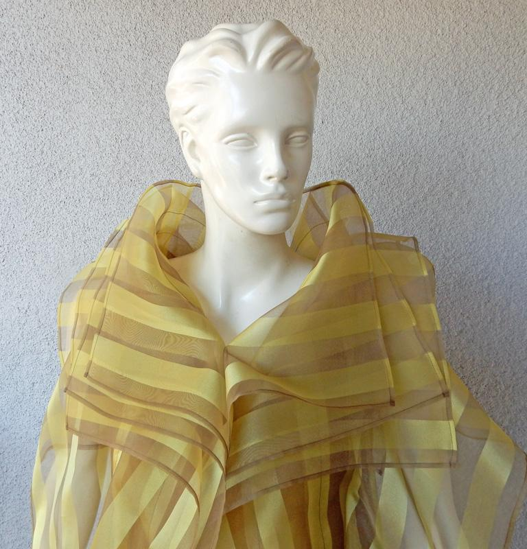 Brown Issey Miyake A/W 2009 Hi Fashion Origami Caftan & Dress Ensemble   New! For Sale