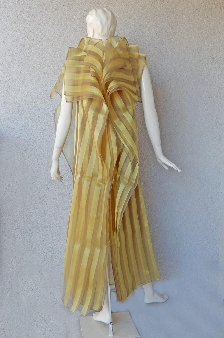 Issey Miyake A/W 2009 Hi Fashion Origami Caftan & Dress Ensemble   New! In New Condition For Sale In Los Angeles, CA