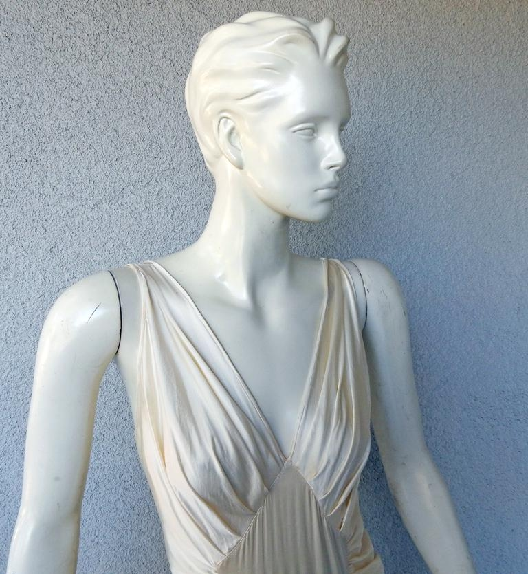Gray Rochas 1930's Inspired Harlowesque Bias Cut Dress Gown  New! For Sale
