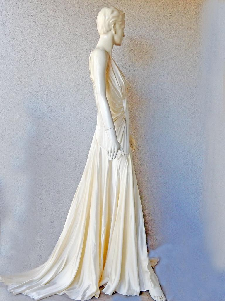 Women's Rochas 1930's Inspired Harlowesque Bias Cut Dress Gown  New! For Sale
