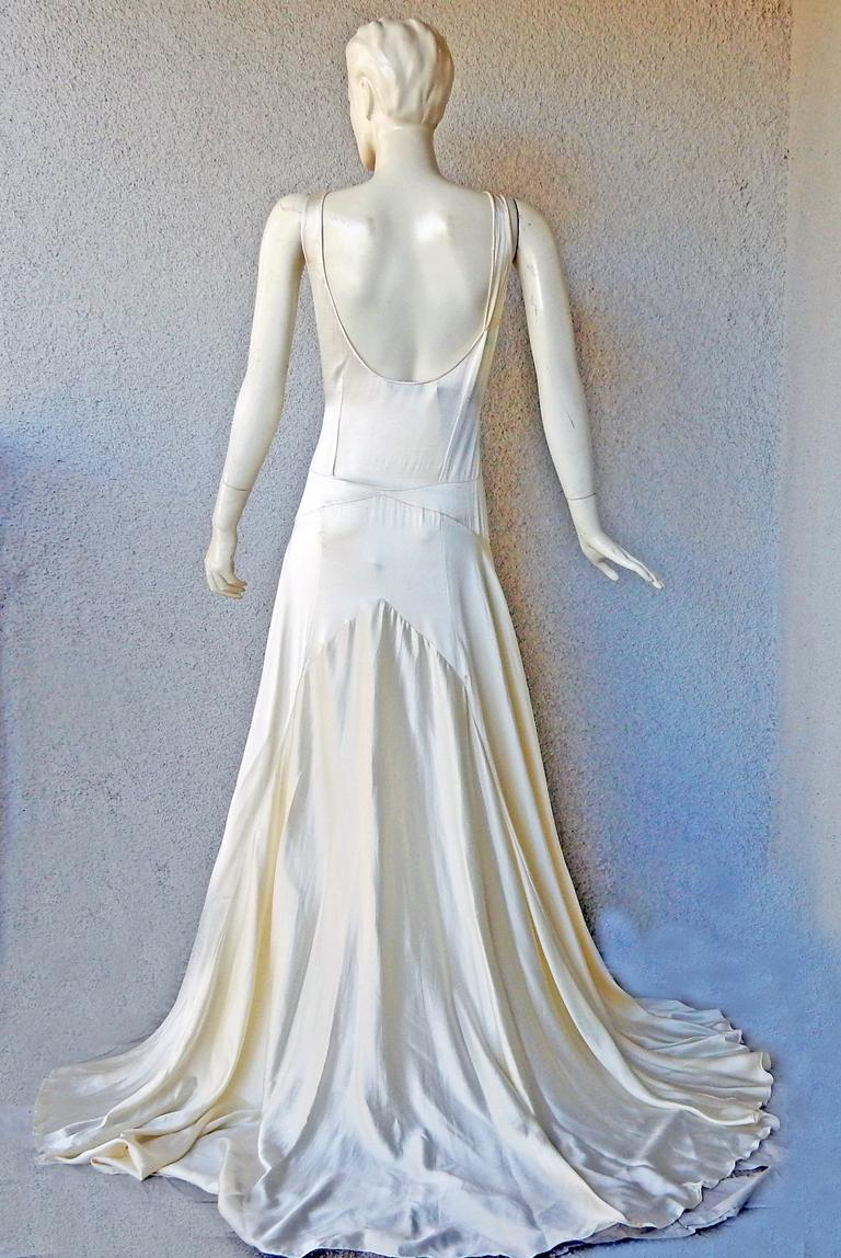Rochas 1930's Inspired Harlowesque Bias Cut Dress Gown  New! For Sale 1