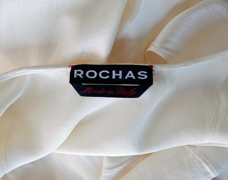 Rochas 1930's Inspired Harlowesque Bias Cut Dress Gown  New! For Sale 2