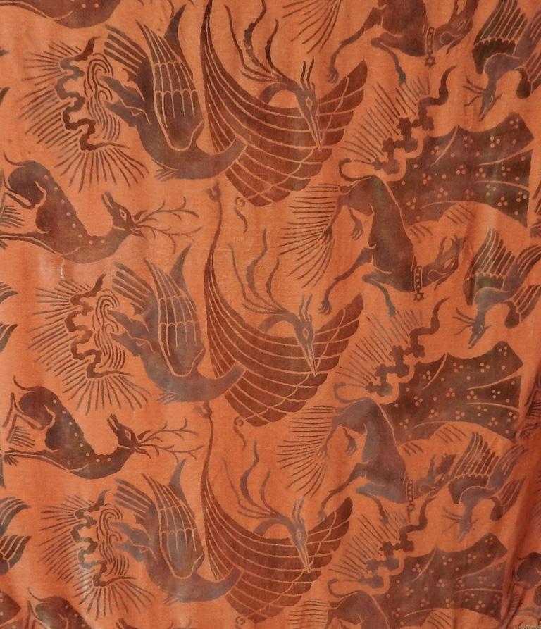 Women's Gallenga Estate Apricot Panne Velvet Fringe Shawl fr Gallenga Estate  Rare For Sale