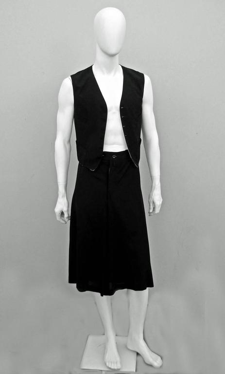 Jean Paul Gaultier Men's Skirt Suit - Single Sex Dressing In Excellent Condition For Sale In Los Angeles, CA