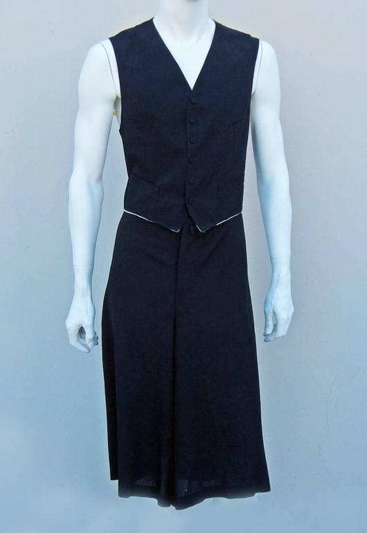 Black Jean Paul Gaultier Men's Skirt Suit - Single Sex Dressing For Sale