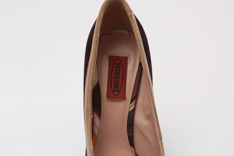 Women's Missoni Brown Suede Pumps For Sale