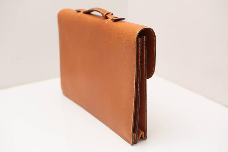 Women's or Men's Hermes Sac A Depeches Tan For Sale