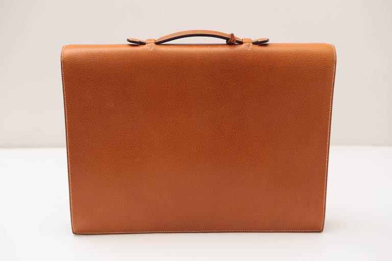 Hermes Sac A Depeches Tan For Sale 1