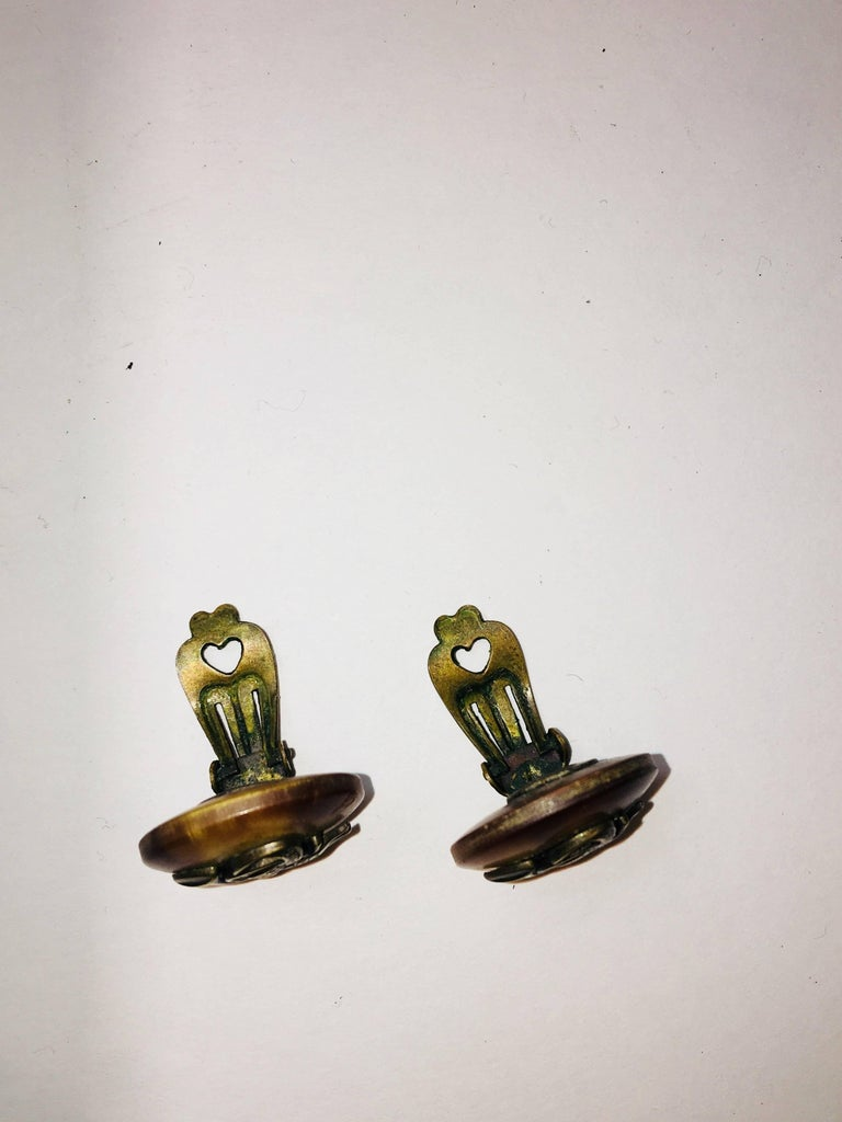 Hermes Clip-On Earrings In Good Condition For Sale In Bridgehampton, NY