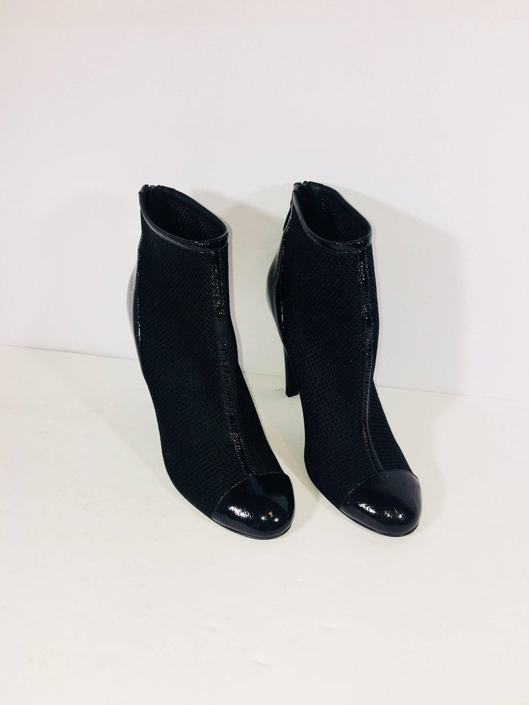 Chanel Round Toe Bootie In Excellent Condition For Sale In Southampton, NY