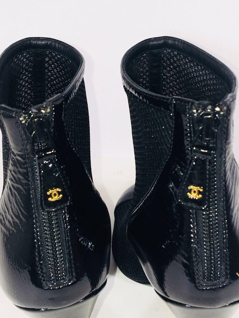 Chanel Round Toe Bootie For Sale 2