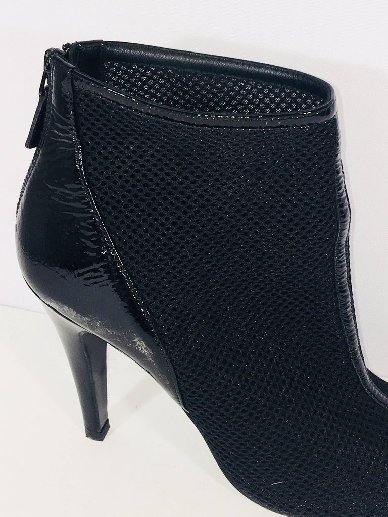 Black Chanel Round Toe Bootie For Sale