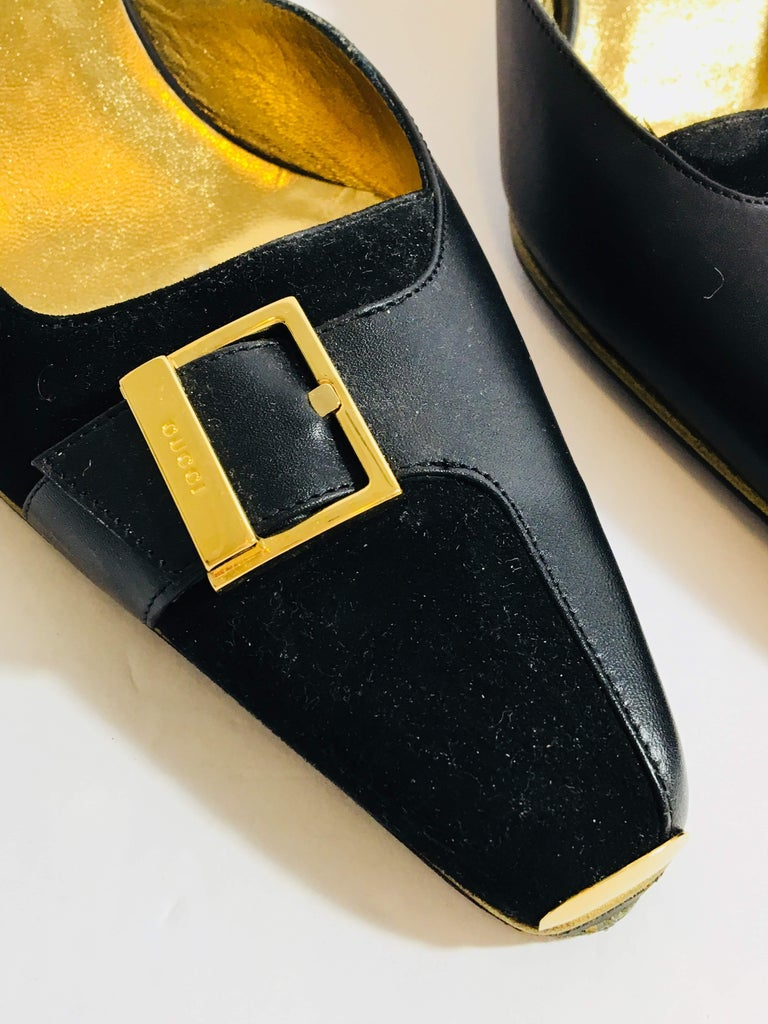 Black Gucci Heeled Mule For Sale