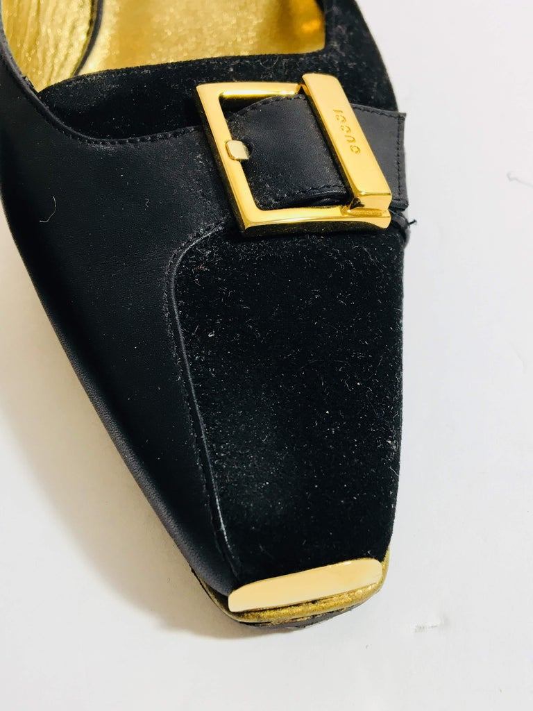 Gucci Heeled Mule In Excellent Condition For Sale In Southampton, NY