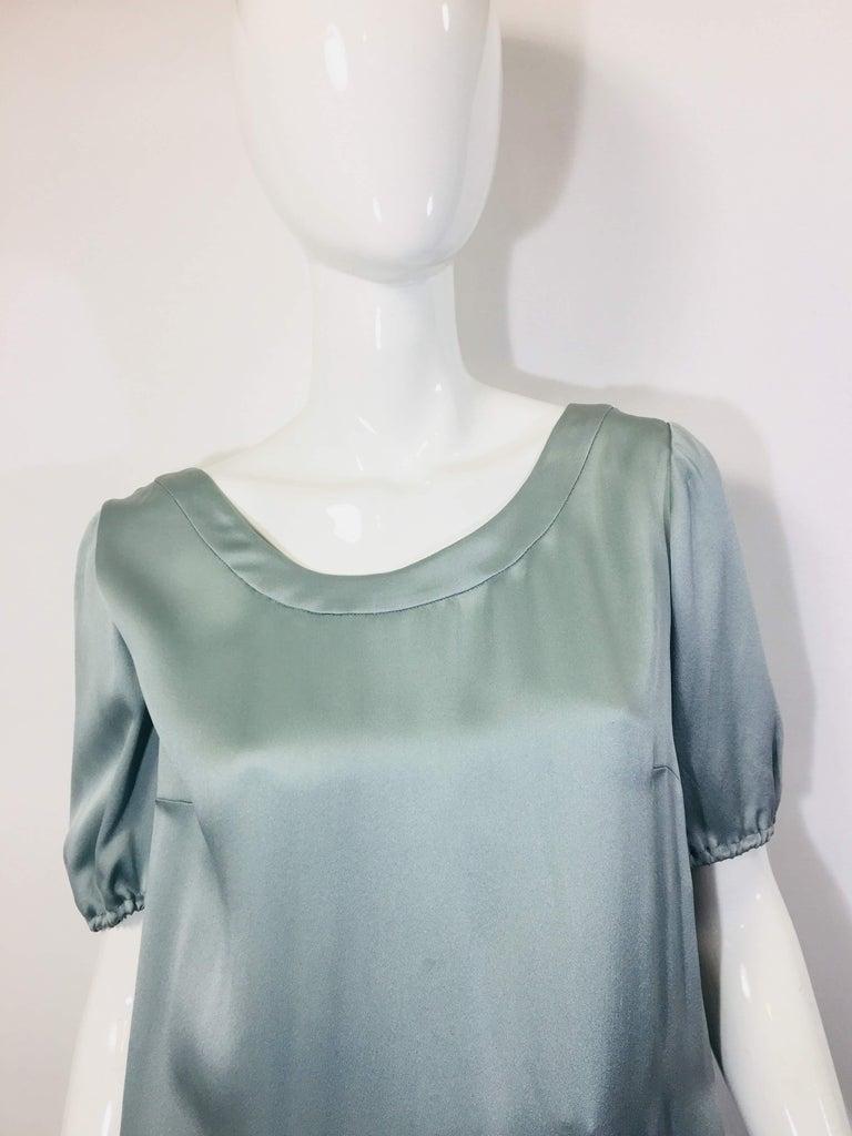 Gray Fendi Short Sleeve Dress For Sale