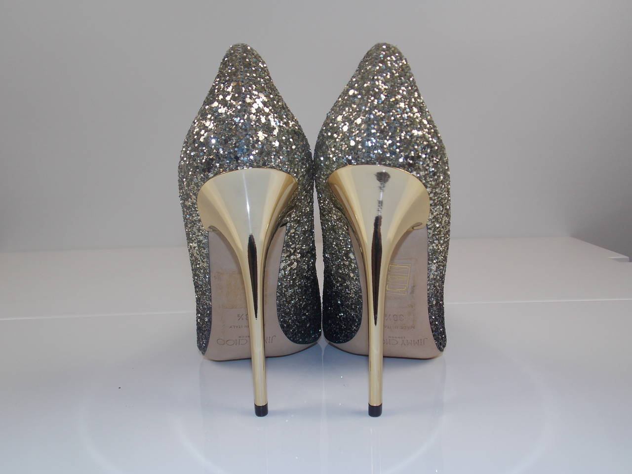 3fa684343fd6 Jimmy Choo Anouk Glitter Degrade Pumps In Good Condition For Sale In  Southampton