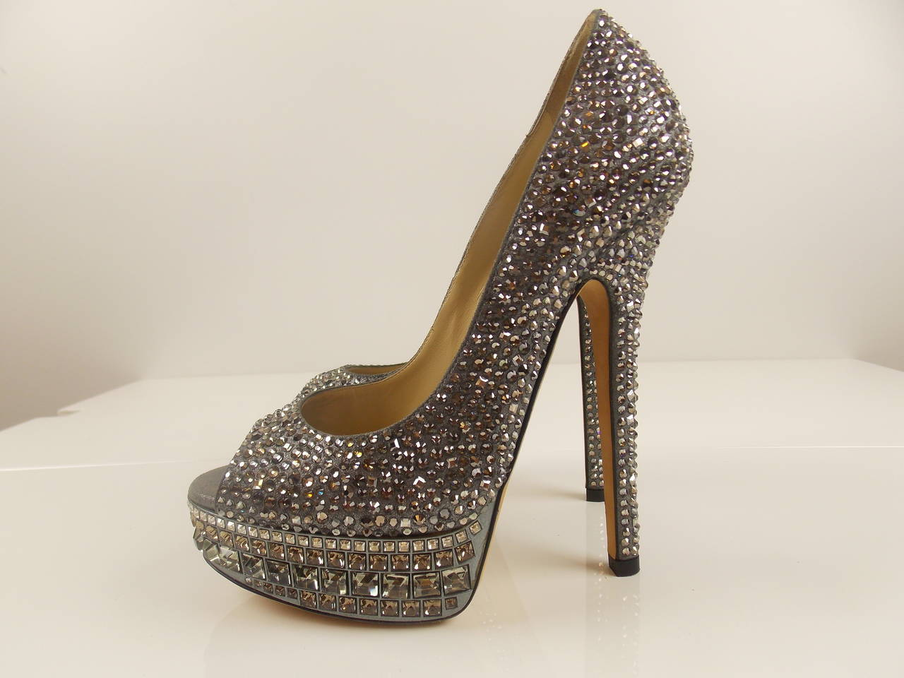 91a86bb19ba Jimmy Choo  Kendall  Limitted Edition Beaded Platform Pump For Sale ...