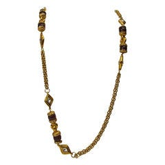 Vintage Chanel Gripoix Sautoir Necklace
