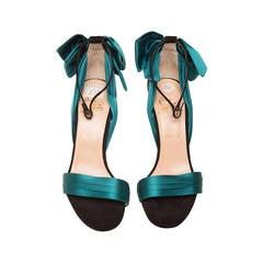 Christian Louboutin Teal High Heel Sandal