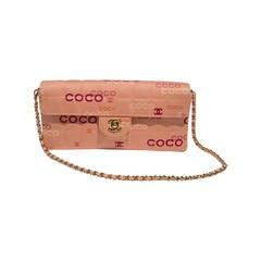 Chanel Coco Logo Pink  Bag