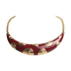 Balenciaga 1960's Gold Choker