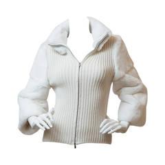 Manrico Cashmere and Mink Sweater Jacket