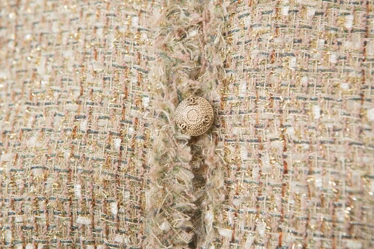 Chanel Gold Tweed Skirt Suit 3
