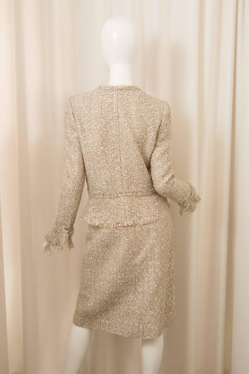 Chanel Gold Tweed Skirt Suit 2
