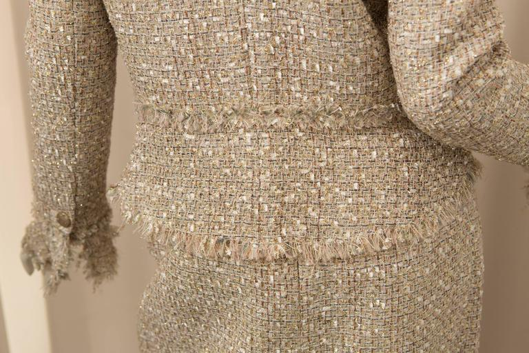 Chanel Gold Tweed Skirt Suit 5