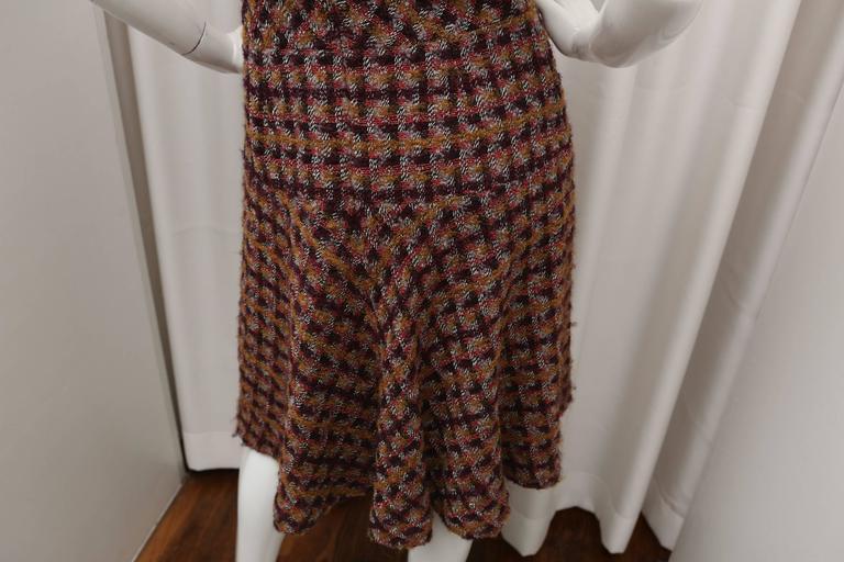 Oscar de la Renta Tweed Shift Dress 6