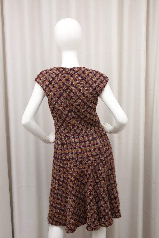 Oscar de la Renta Tweed Shift Dress 4