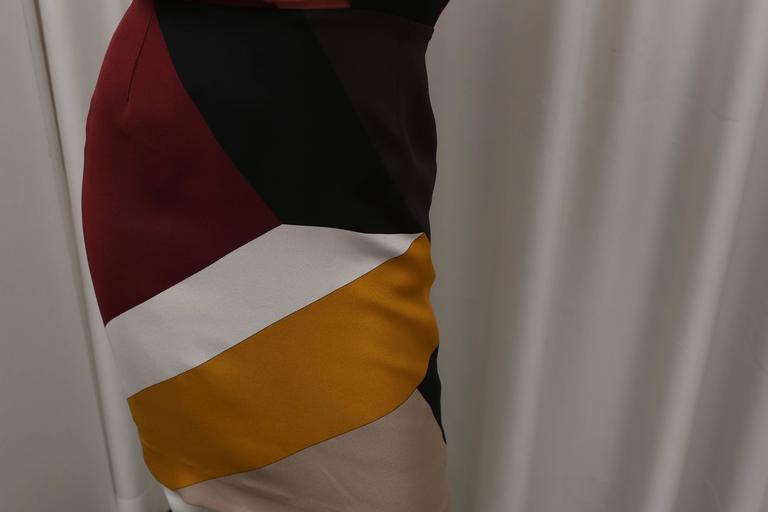 Fendi multi color block cap sleeve dress For Sale 3