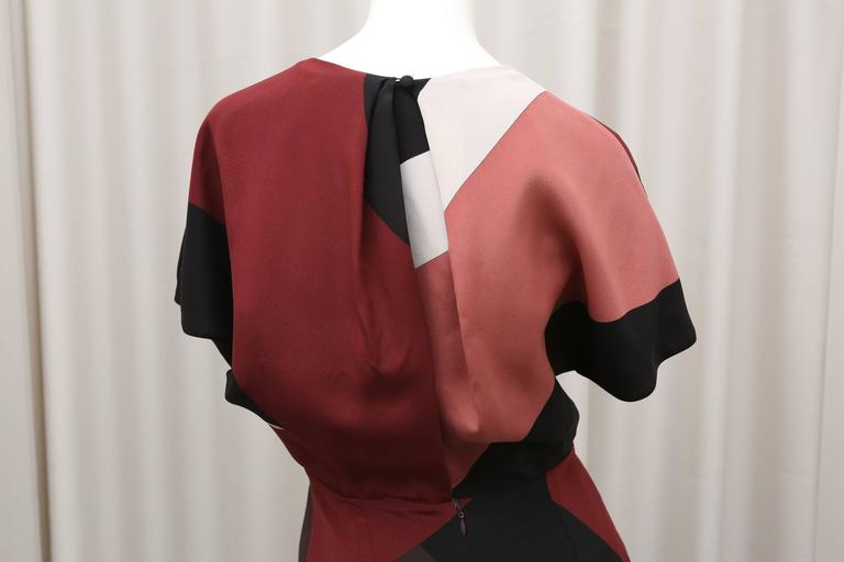 Fendi multi color block cap sleeve dress For Sale 1