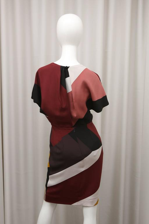 Women's Fendi multi color block cap sleeve dress For Sale