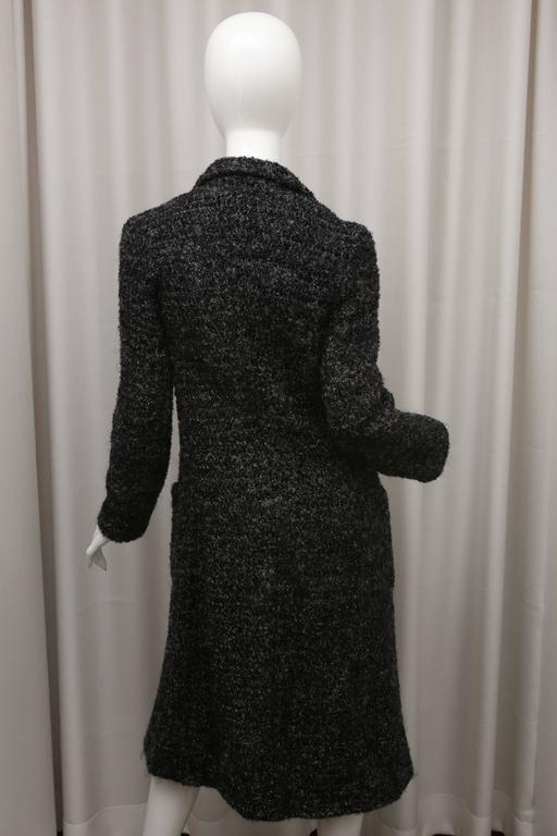 Navy/Grey metallic evening coat with front pockets
