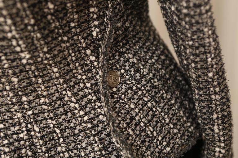 Chanel Grey/Silver Tweed Blazer  3