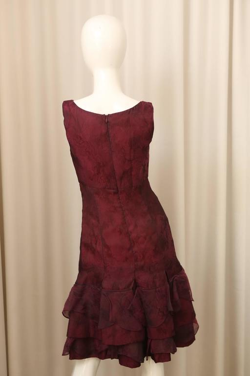 Carolina Herrera Red Textured Dress 4
