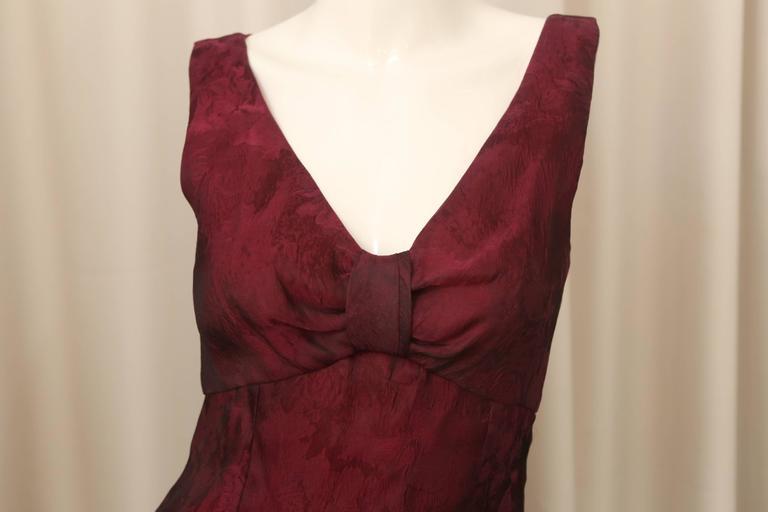 Carolina Herrera Red Textured Dress 2