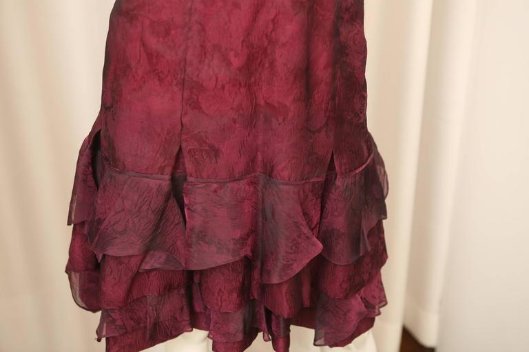Carolina Herrera Red Textured Dress 3