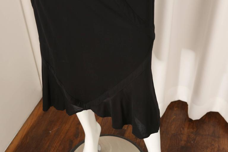 YSL Black Dress W/ Bell Sleeves and Open Back  In Excellent Condition For Sale In Southampton, NY