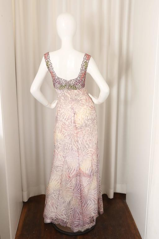 Badgley Mischka Couture Embellished Beaded Gown W Train
