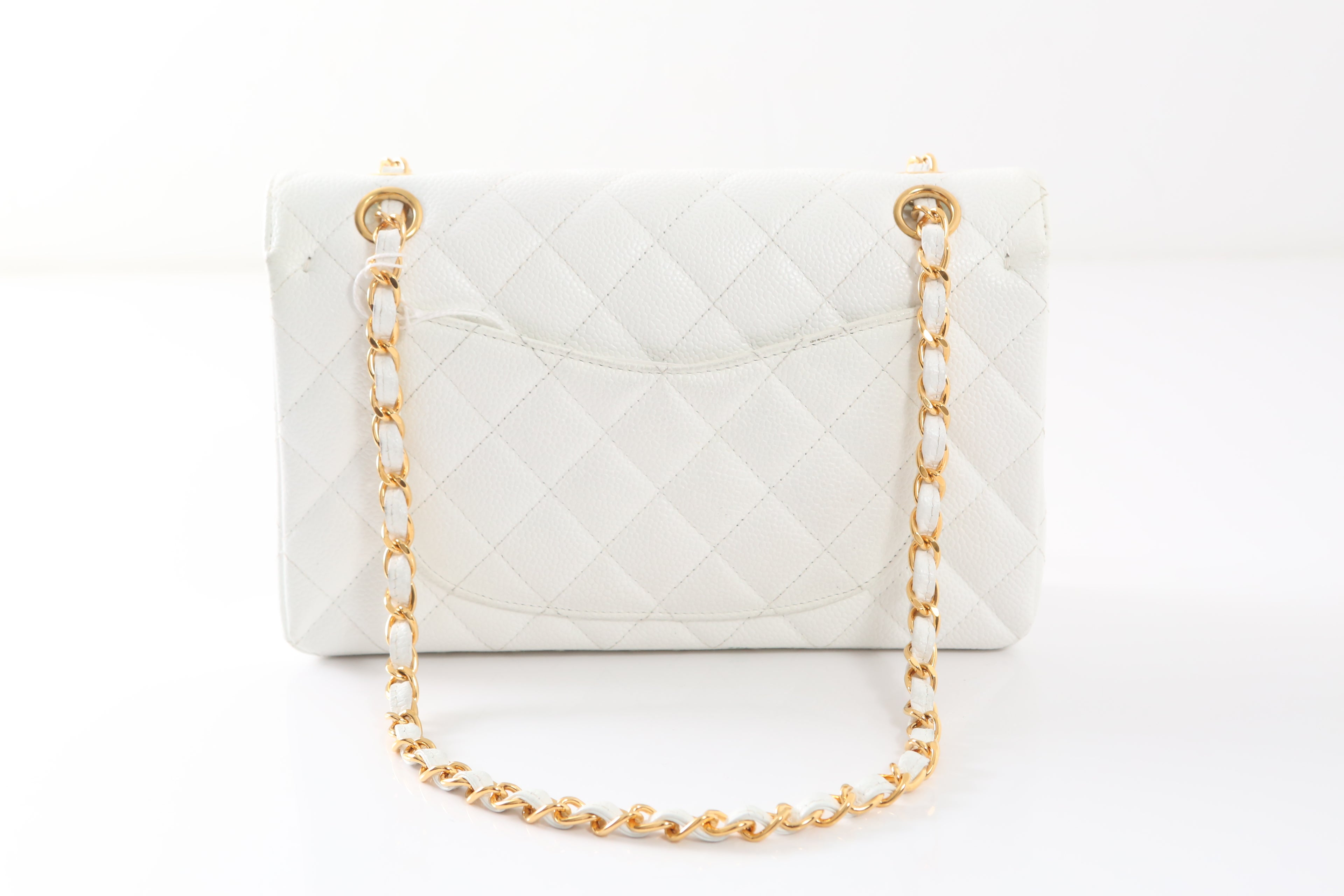1997-1999 Chanel White Gold Small Double Flap Handbag For Sale at 1stdibs aadfeb9580342