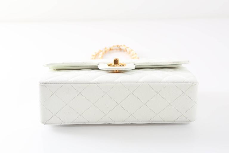 Women s 1997-1999 Chanel White Gold Small Double Flap Handbag For Sale 57fbf6dfaab08